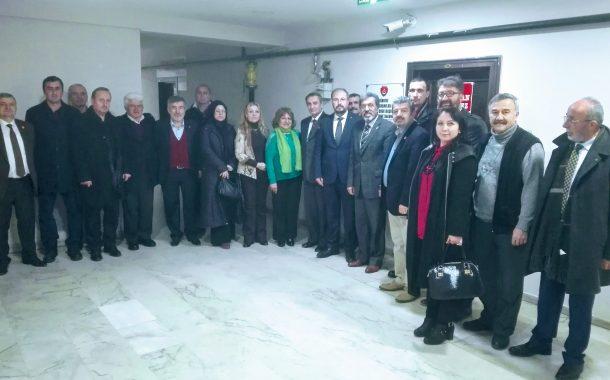 10.01.2018'de Ak Parti Keçiören İlçe Başkanı Sayın Şükrü ÖZEK ve Yönetiminin şubemizi ziyareti.