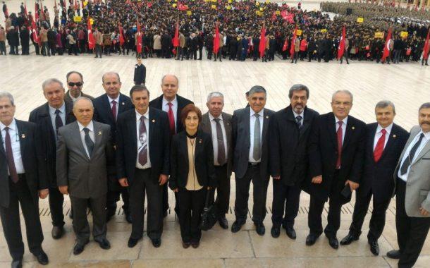 18 Mart 2018 Çanakkale Zaferi'nin 103'ncü yıldönümünü kutlamak ve Şehitlerimizi anmak üzere Anıtkabir ve Cebeci Şehitliği Ziyareti