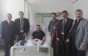 21.03.2018 tarihinde Afrin Zeytindalı Harekatı Gazileri Uzm.Çvş. Metin İNCİRLİ ve Yasin YALÇIN Gülhane Eğitim ve Araştırma Hastanesi'nde Ziyaret edildi.