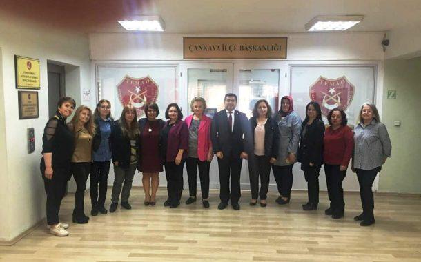 15 Nisan 2019'da Kadın Kollarımız, TEMAD Çankaya Şubesi Kadın Kolları'nı Ziyaret Etmiştir.