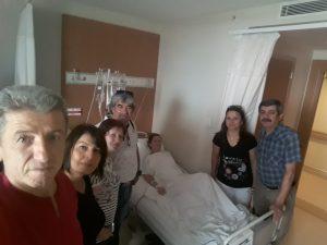 AHMET-MÜBEYYEN SERT'İN KIZLARI  DENİZ ULAŞ İNAN HST.DE ZİYARET EDİLDİ