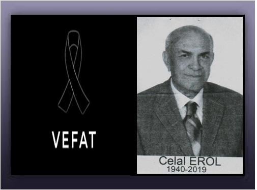 Değerli Üyemiz Em.J.Kd.Bçvş. Celal EROL (1960-4)'ün Cenazesi 07 Aralık 2019'da Karşıyaka Mezarlığı'nda Toprağa Verilmiştir.